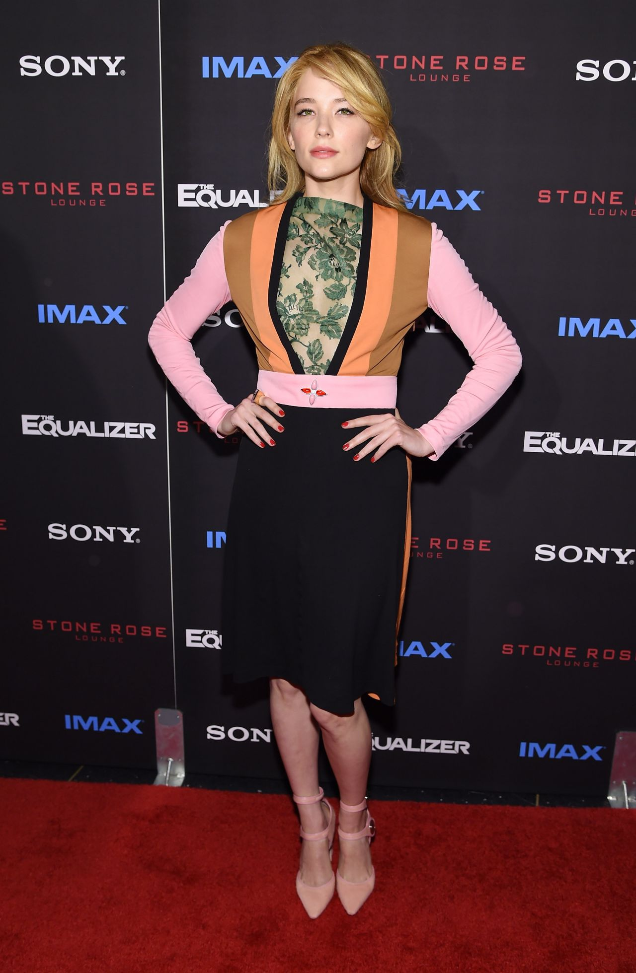 Haley Bennett wears Louis Vuitton at 'The Equalizer' New
