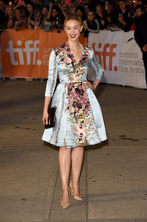 maps 090914  6  Sarah Gadon  wears  Antonio Marras at  'Maps To The Stars' Toronto Film Festival Premiere
