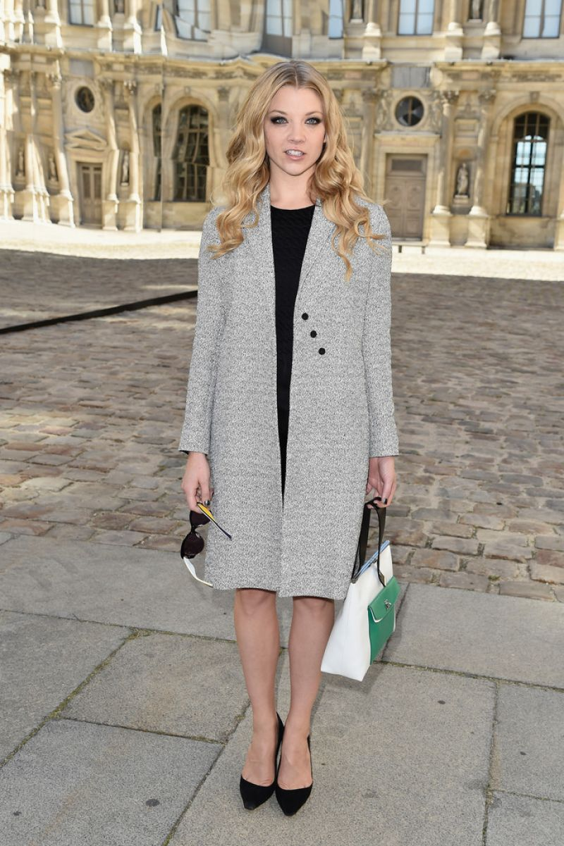 Natalie Dormer – Paris Fashion Week – Christian Dior Spring/Summer 2015 Fashion Show