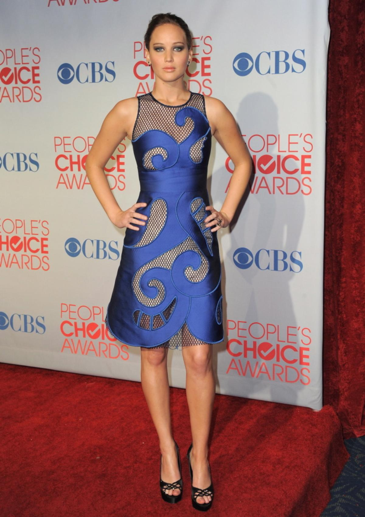 iktor and Rolf dress with mesh cutouts at The Peoples Choice Awards on Jan. 11, 2012