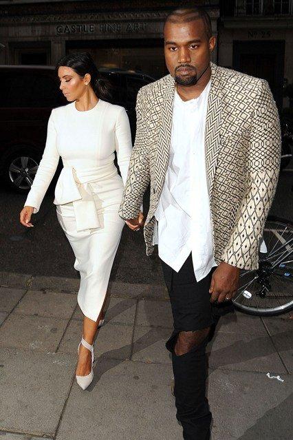 Kanye -West- wears - Haider- Ackermann -in -Paris