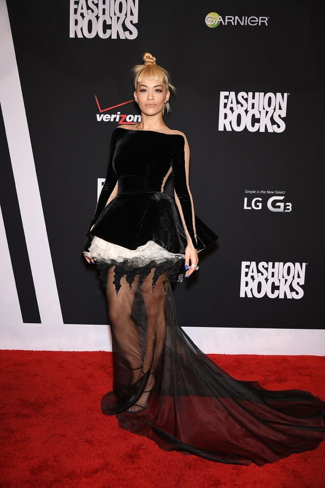 Rita Ora in a Stephane Rolland gown