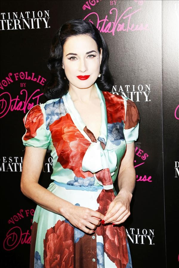 Dita Von Teese Von Follies Launch Event in NYC