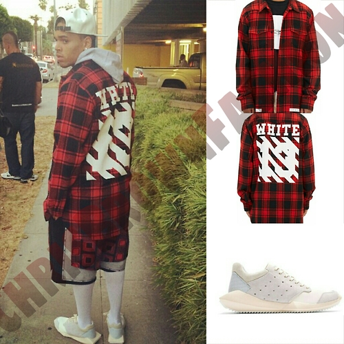 chris-brown-wears-off-white-co-virgil-abloh-check-shirt-and-rick-owens-sculpted-sole-adidas-edition-sneakers/
