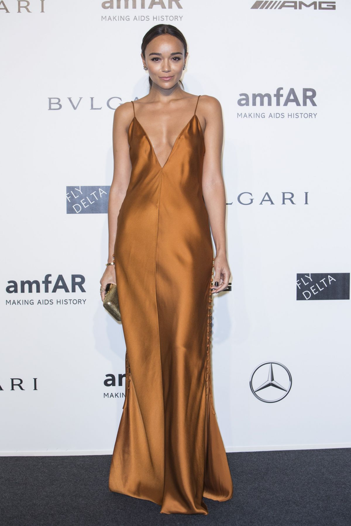 Ashley Madekwe wears Wes Gordon at amfAR Milano 2014 Gala ...