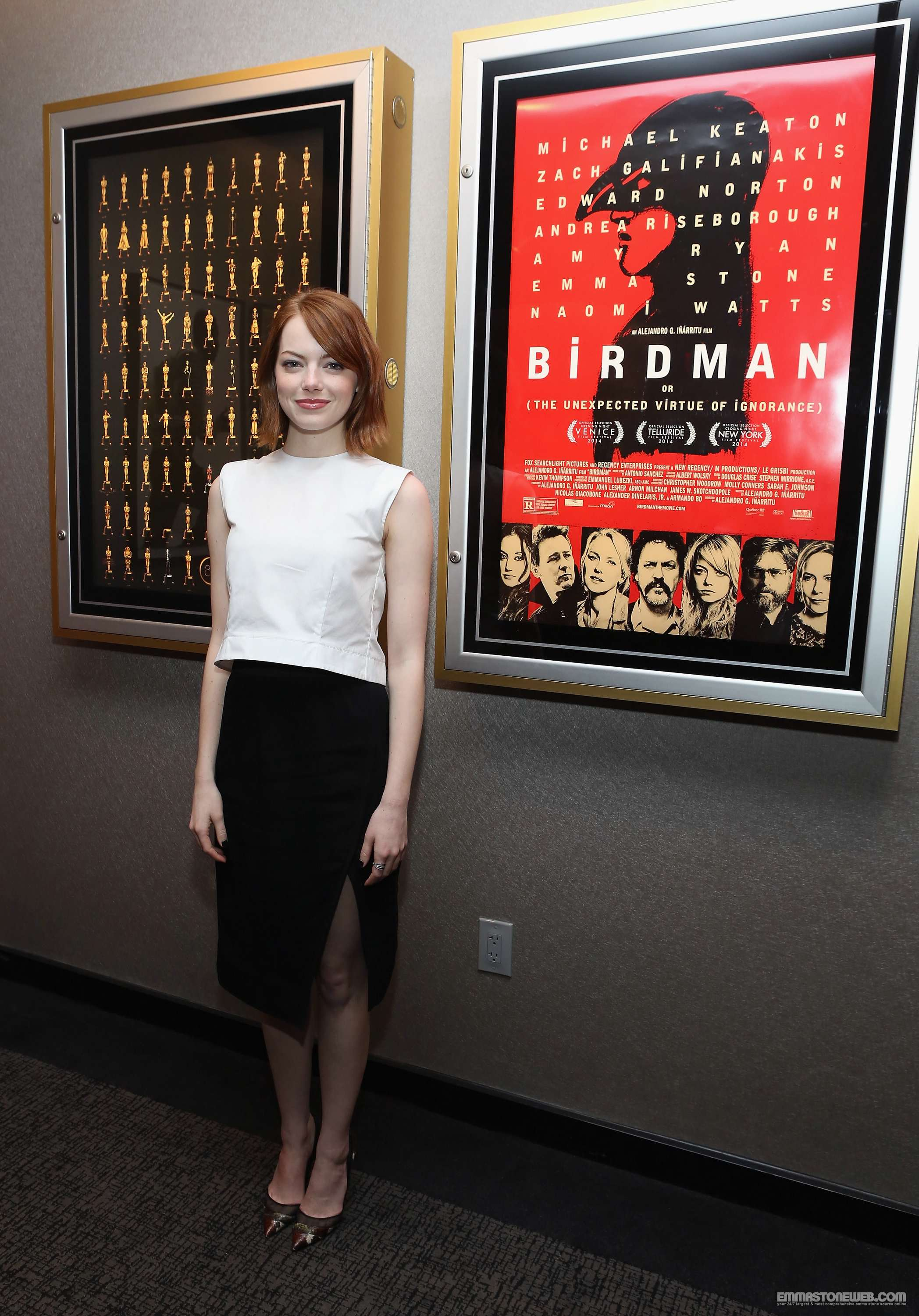 Emma-stone- Academy Of -Motion- Picture -Arts- And -Sciences- Hosts- An- Official- Academy- Members -Screening- Of -Birdman