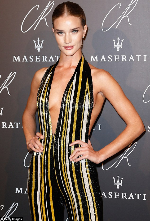 Rosie -Huntington-Whiteley -at the- CR -Fashion -Book -Issue- N°5 -Launch- Party -Red -Carpet