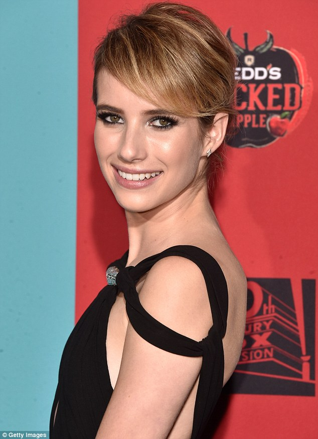 "Emma- Roberts- in- Saint -Laurent- at- the- ""American- Horror- Story:- Freak- Show""- Hollywood- Premiere"