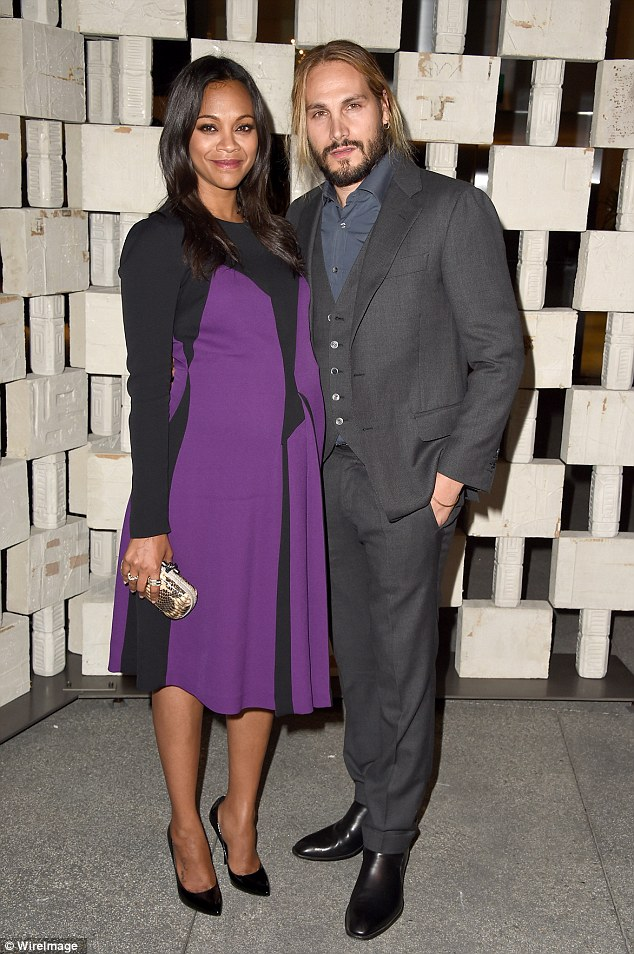 Zoe- Saldana- wears- Bottega -Veneta - at -The - Hammer- Museum's -Gala -in -the -Garden- in- Westwood