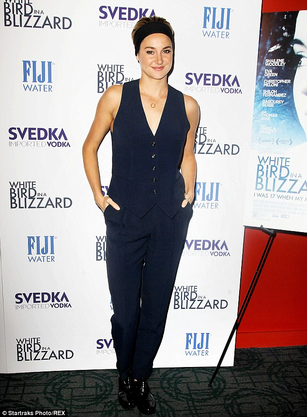 1413428646434 Image galleryImage Mandatory Credit Photo by Shailene Woodley in Temperley London at the White Bird In A Blizzard NYC Screening