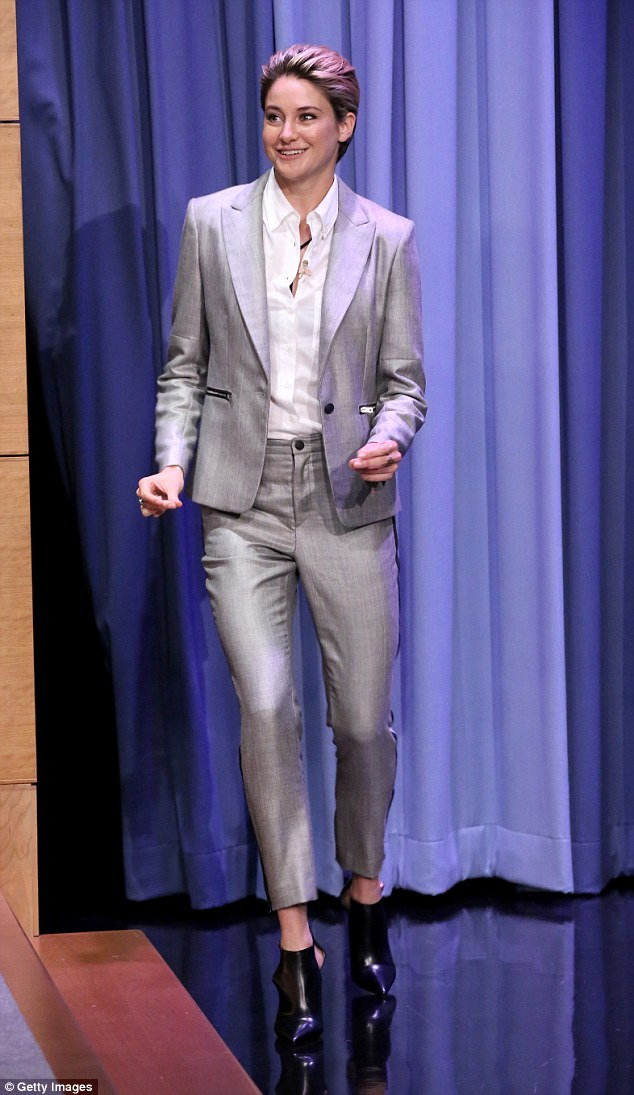 1413436086815 Image galleryImage THE TONIGHT SHOW STARRING Shailene Woodley  wears  Rag & Bone   The Tonight Show Starring Jimmy Fallon