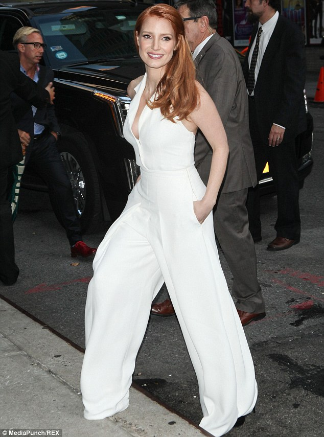 1413523492029 Image galleryImage Mandatory Credit Photo by Jessica Chastain In Temperley London – Late Show with David Letterman