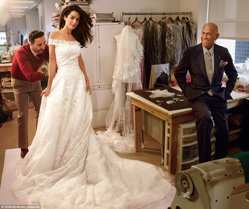 Oscar de la Renta, recently designed Amal Clooney's wedding dress.