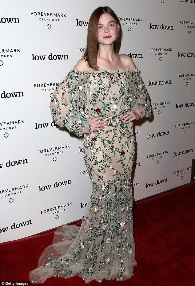 1414130566307 Image galleryImage HOLLYWOOD CA OCTOBER 23 A Elle Fanning In Marchesa  at  'Lowdown' LA Premiere