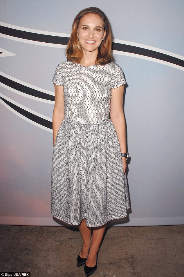 1414422575937 Image galleryImage Mandatory Credit Photo by Natalie Portman In Dior – L.A. Dance Project Benefit Dinner