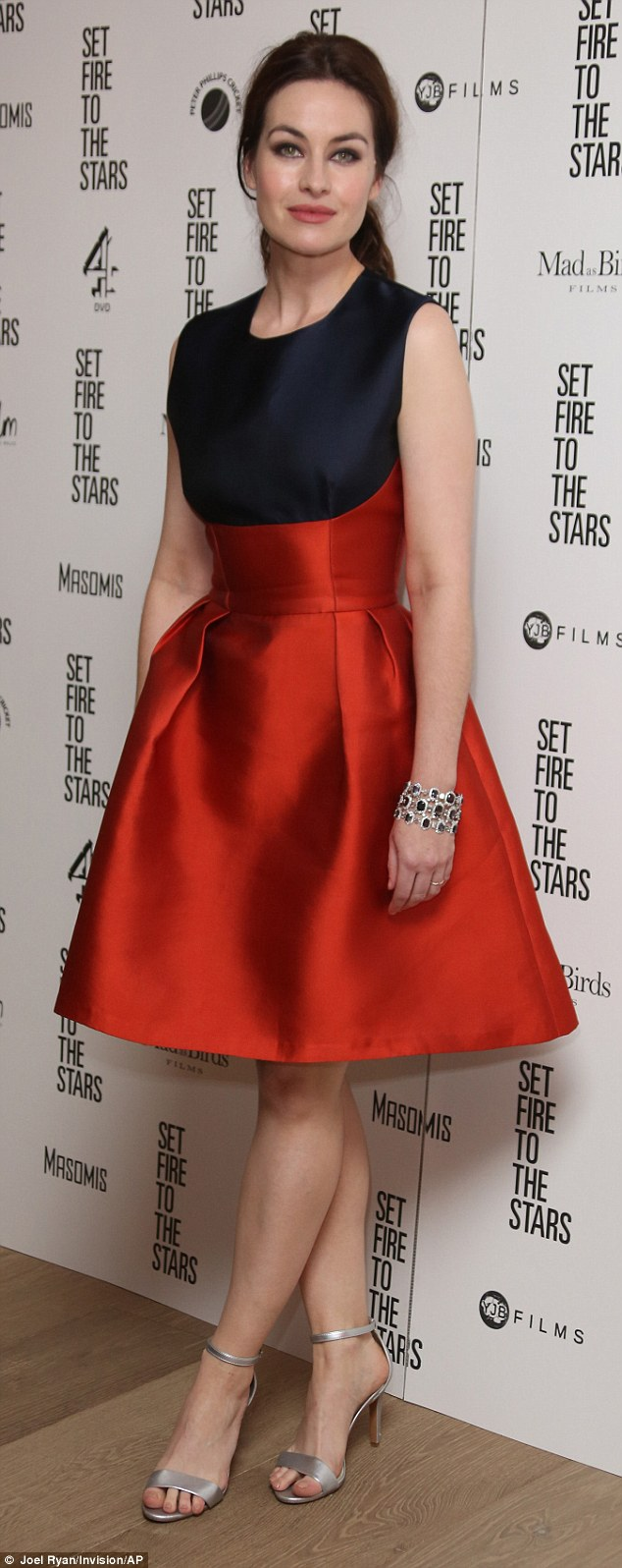 1414571557792 Image galleryImage Actress Maimie McCoy arri Maimie McCoy in Sophia Kah at the Set Fire to the Stars London Premiere