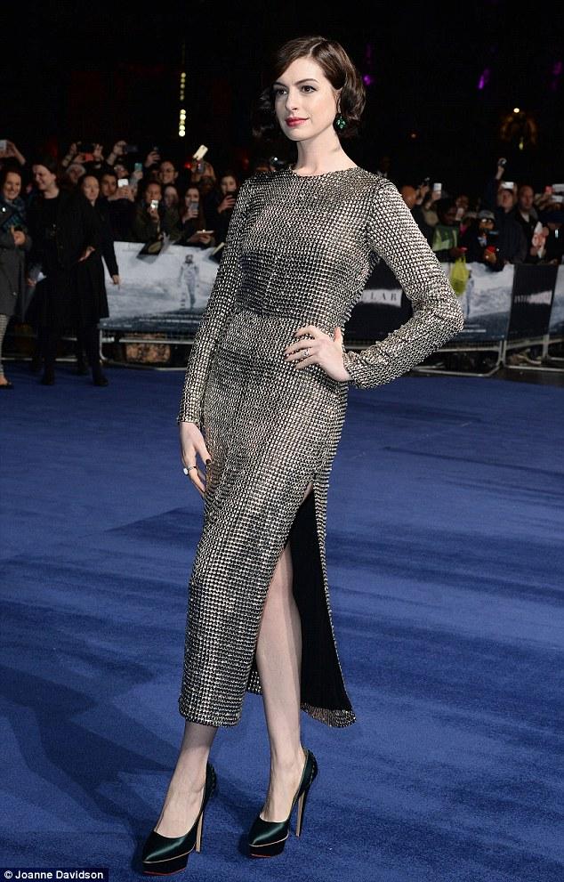 1414609262928 Image galleryImage 29 10 2014 nInterstellar  Anne Hathaway wears  Wes Gordon – 'Interstellar' London Premiere