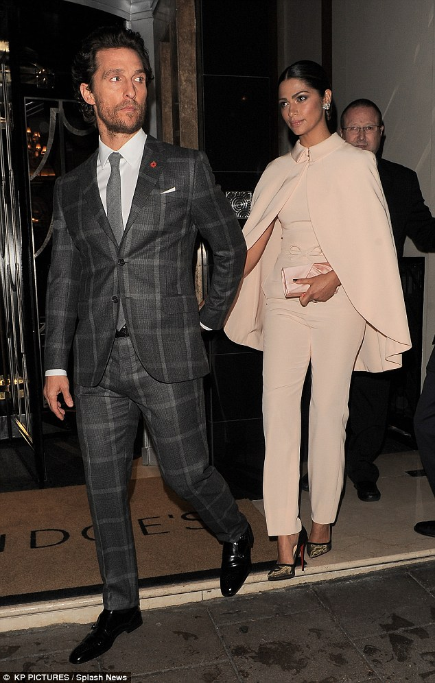 Camila Alves In Georges Hobeika Couture & Matthew McConaughey In Kent and Curwen – 'Interstellar' London Premiere