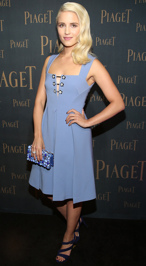 8a390e0f7c01 Dianna Agron In Miu Miu – Extremely Piaget Launch Event