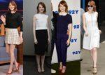 Emma Stone Wearing Michael Kors, Proenza Schouler & Giambattista Valli – New York Promo Tour