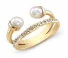 Rashida Jones wears the Vita Fede Pearl with Band Ring (Available Fall 2014)