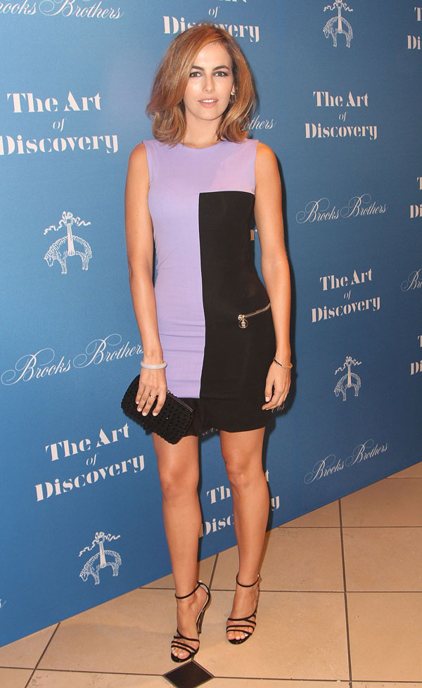 457761902 1 Camilla Belle wears  Versace – Brooks Brothers Celebrates The Launch Of Jeff Vespa's New Book 'The Art Of Discovery'