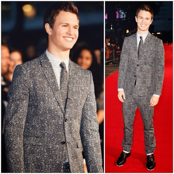 Ansel+Elgort+wears+Dior+Homme+Spring+2015+graphite+print+suit+to+Men+Women+and+Children+London+Premiere+9th+October+2014