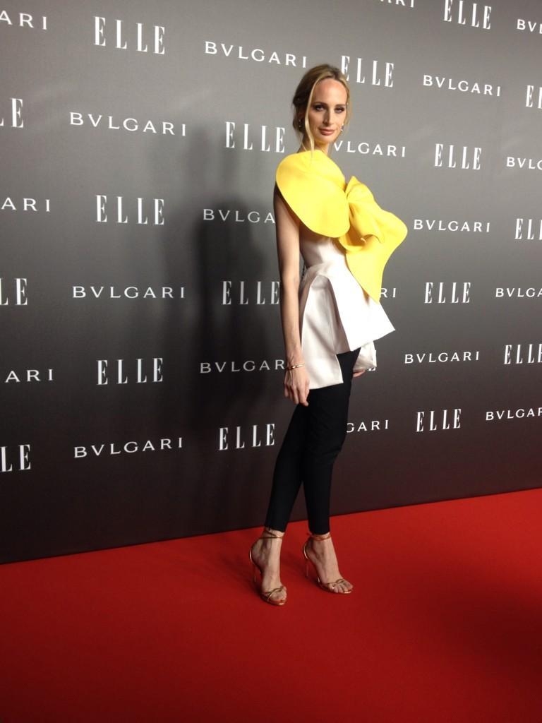 B0plQrEIAAAG4mY Lauren Santo Domingo wears Delpozo – Elle Style Awards 2014