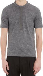 Balenciaga Wool Jersey Henley T-Shirt
