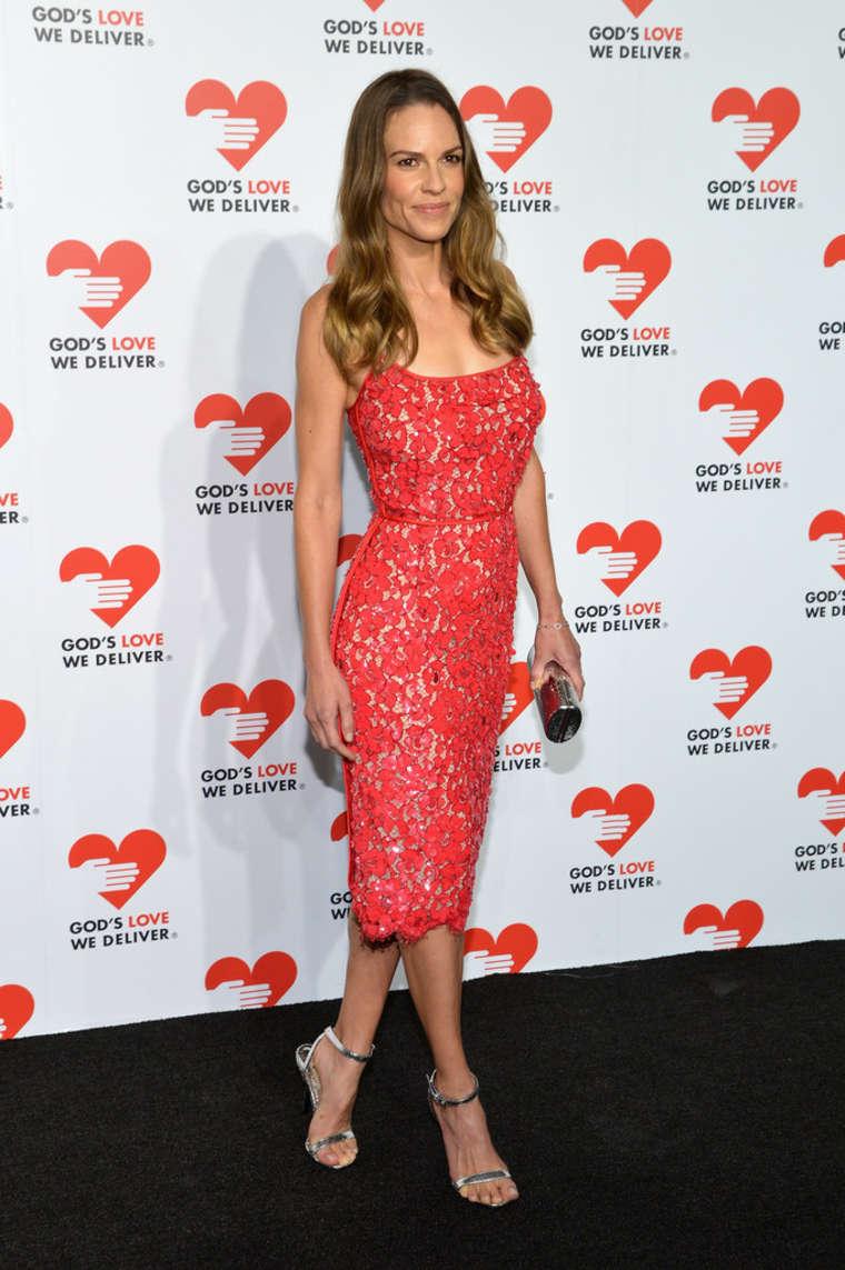 Hilary Swank 2013 Golden Heart Awards Celebration 04 Hilary Swank in Michael Kors   Gods Love We Deliver 2013 Golden Heart Awards