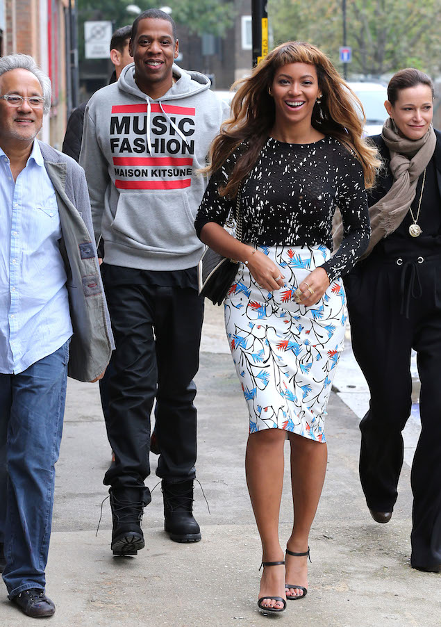 Beyonce and husband Jay Z step out in South London to visit a community arts project
