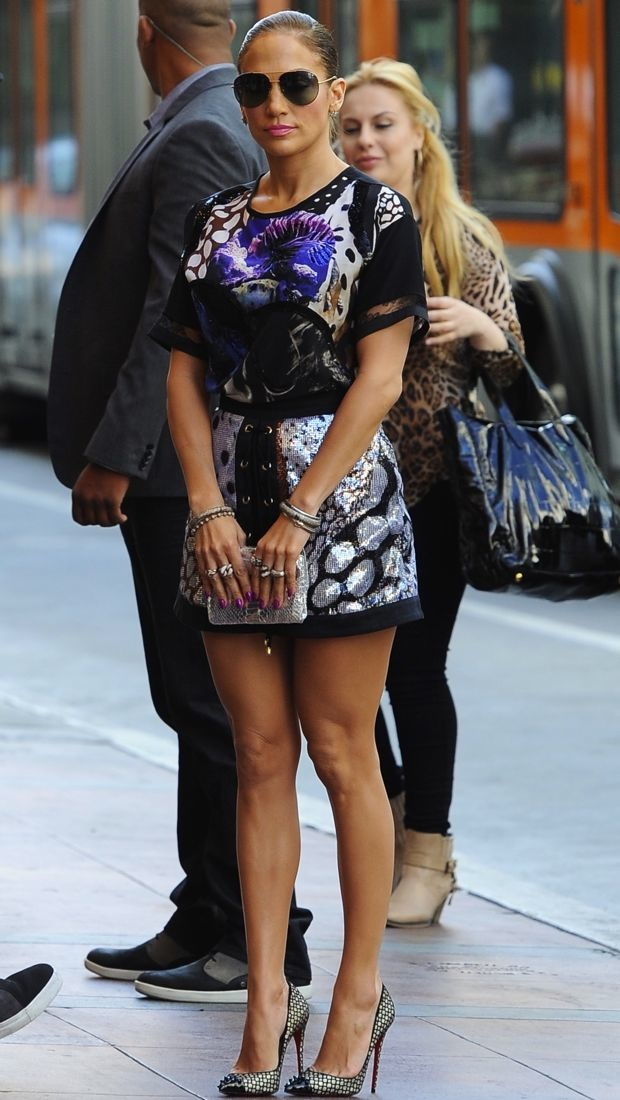 Jennifer Lopez AmericanIdolHollywoodAuditions Jennifer Lopez  wears  Roberto Cavalli – 'American Idol' 'Hollywood Week' Auditions