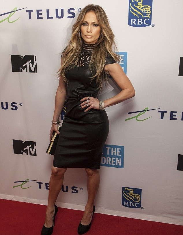 Jennifer Lopez in Jitrois Leather Balquis Sheath Dress and Jimmy Choo Cosmic Suede Pumps in Vancouver Canada for the We Day Event 1 Jennifer Lopez in Jitrois at We Day Vancouver