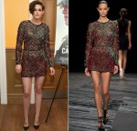 Kristen Stewart wears  J. Mendel – 'Camp X-Ray' New York Premiere