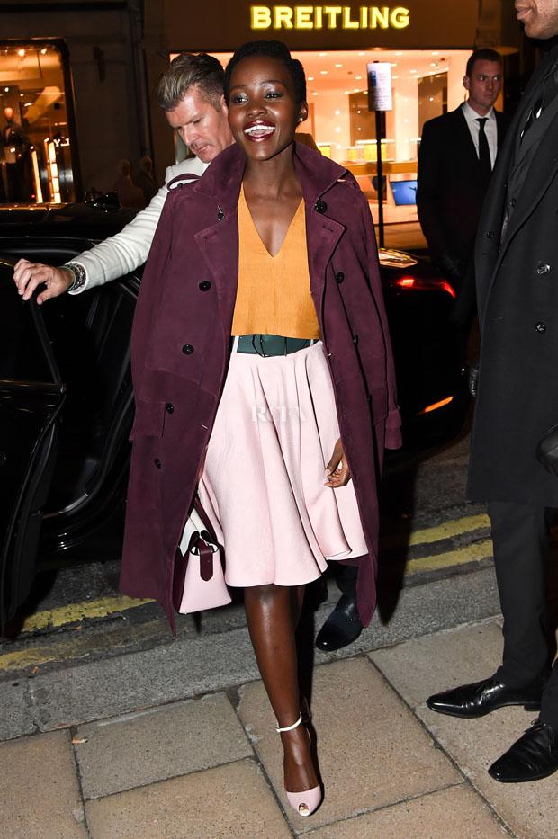 LUPITA NYONGO1 Lupita Nyong'o In Bally at the  Bally London Flagship Store Opening