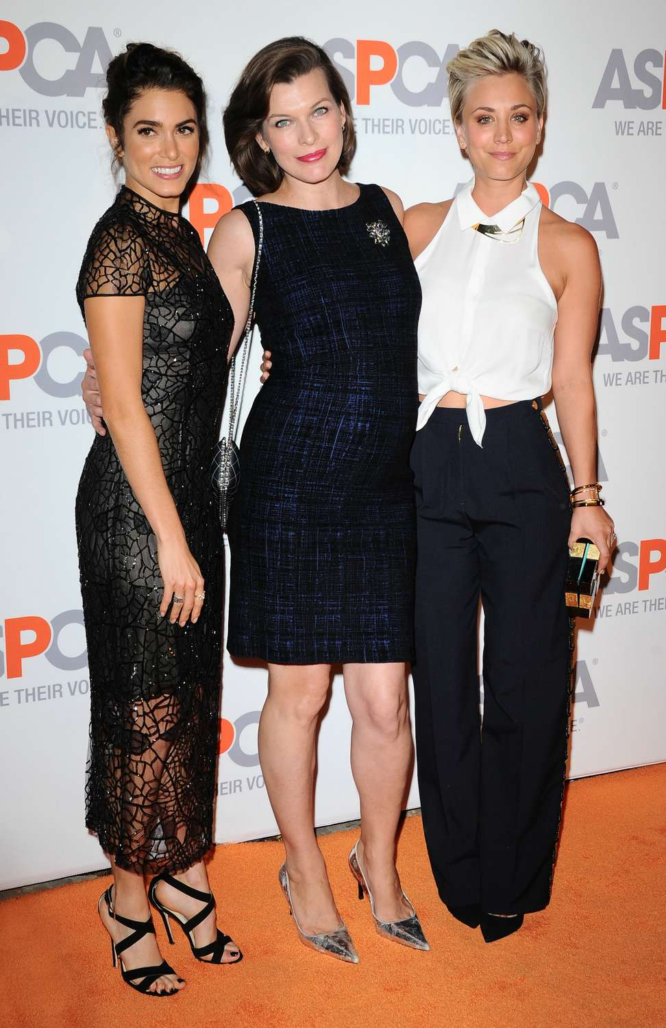 Nikki Reed, Kaley Cuoco and Milla Jovovich arrive the ASPCA Passion Awards 2014 on October 22, 2014