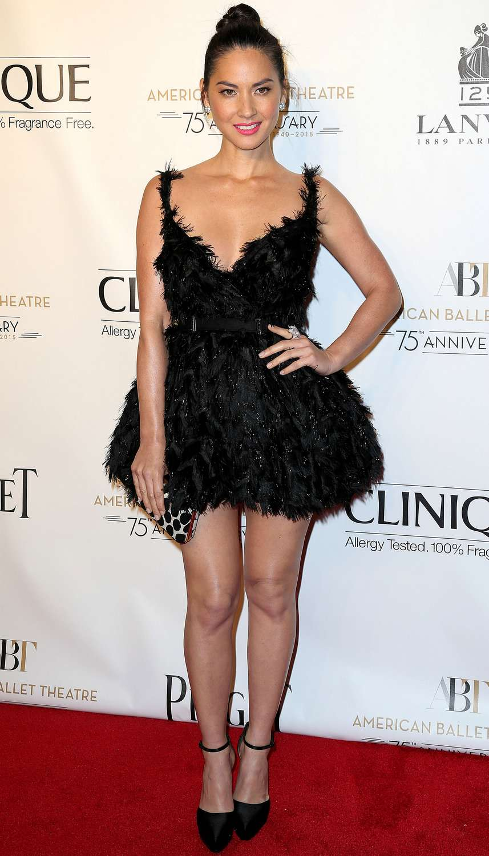 Olivia Munn Wears Lanvin American Ballet Theatre 2014