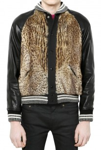 Saint-Laurent-black-marmot-leather-wool-bomber-jacket-207x308