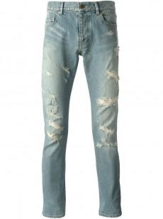 Saint-Laurent-skinny-destroyed-jeans-230x308