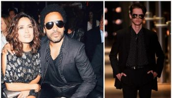 Salma-Hayek-and-Lenny-Kravitz-at-Saint-Laurent-Spring-Summer-2015-show-in-Paris