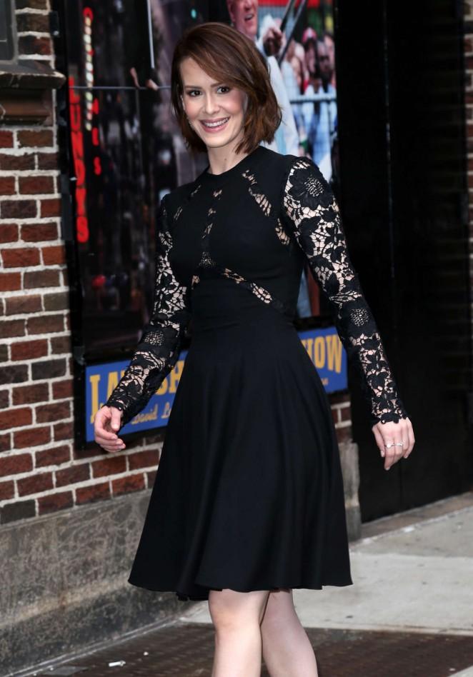 Sarah-Paulson-at-Late-Show-With-David-Letterman-