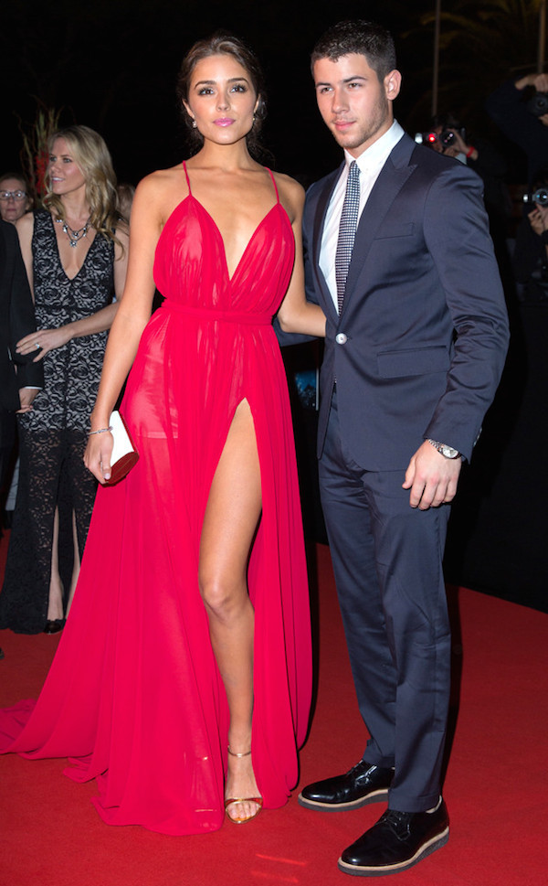 Olivia-Culpo-and-Nick-Jonas-dazzled-on-the-red-carpet-at-MIPCOM-2014-in-Cannes