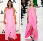 Zoe Saldana wears  Christian Dior at The Academy of Motion Picture Arts & Sciences' Hollywood Costume Opening Party