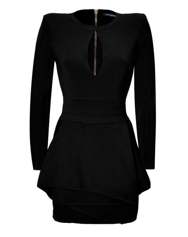 balmain-viscose-peplum-dress
