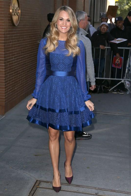 Carrie Underwood wears Temperley London – The View
