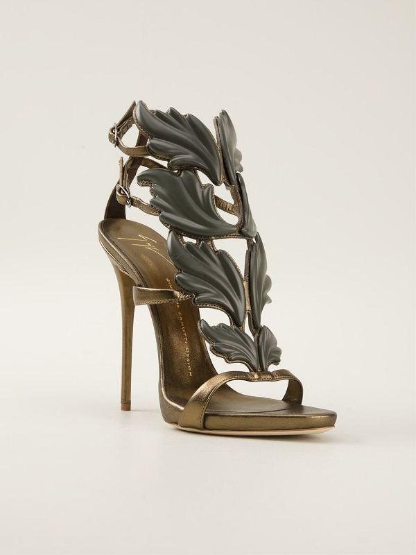 giuseppe-zanotti-leaf-embellished-sandals