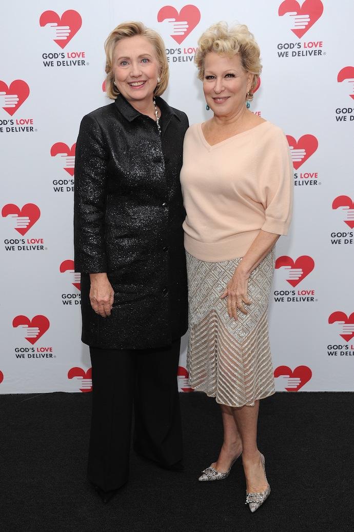Hillary -Clinton -Bette- Midler -The- God's- Love -We -Deliver- Golden- Heart- Awards - Red -Carpet