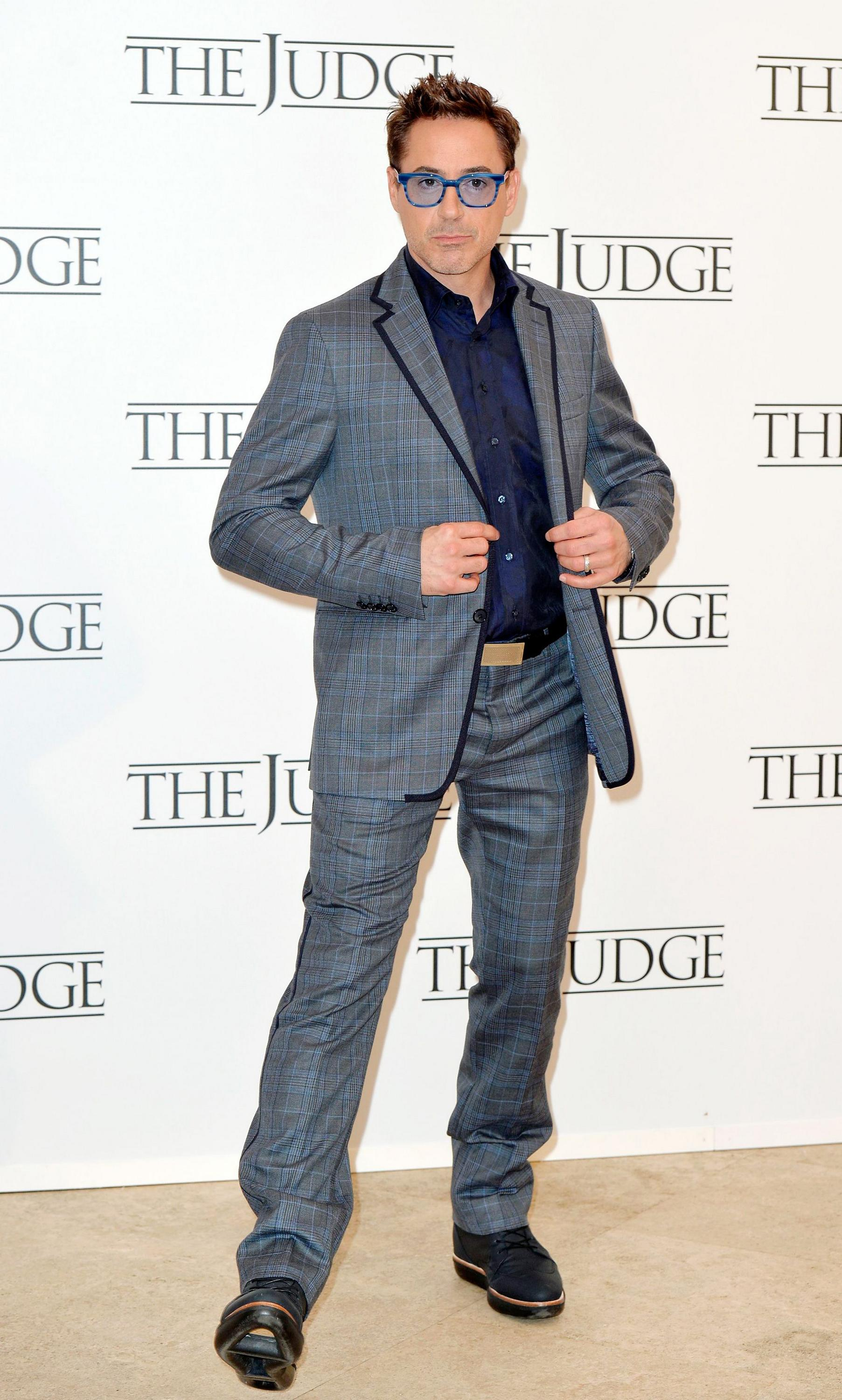 Robert- Downey -Jr- in - Etro -at '-The J-udge' -Rome- photocall
