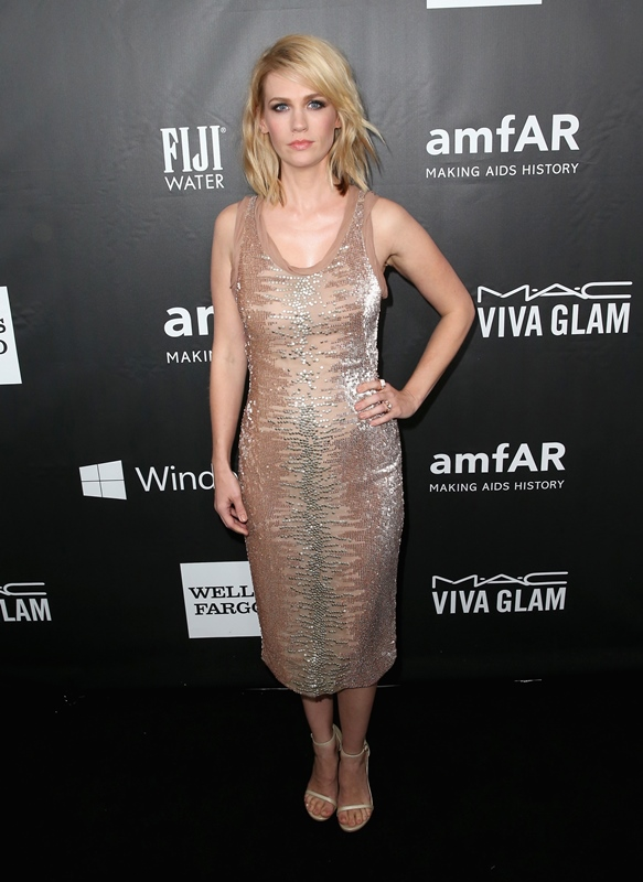January Jones in a sequin dress