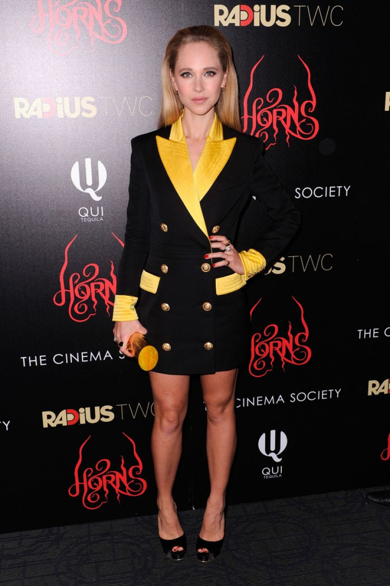 juno temple horns premiere in new york city 4 Juno Temple wears  Balmain – 'Horns' New York Premiere